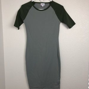Lularoe Julia Bodycon Dress Gray green